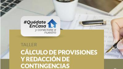 Cálculo de provisiones y redacción de contingencias